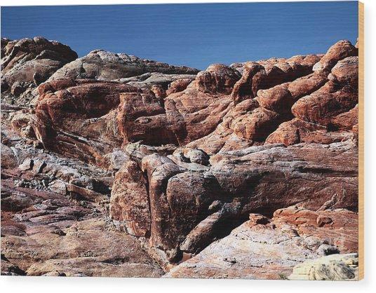 Fire Rocks Wood Print by John Rizzuto