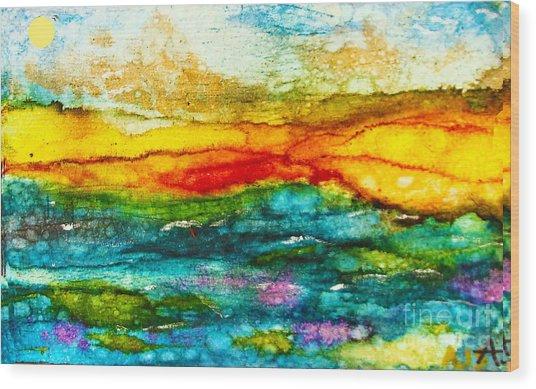 Fire Sky Wood Print