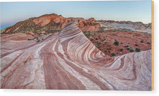 Fire Wave Nevada Wood Print by Pierre Leclerc Photography