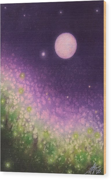 Firefly Night II Wood Print