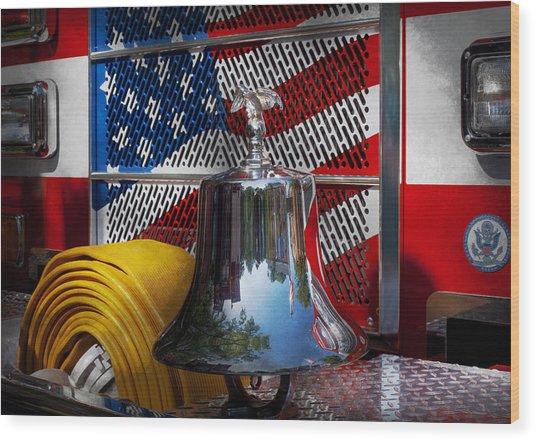 Fireman - Red Hot  Wood Print