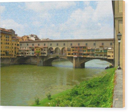Firenze Bridge Itl2153 Wood Print