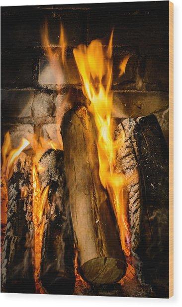 Fireplace Wood Print
