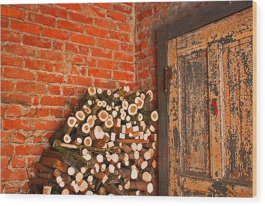 Firewood And Door Wood Print