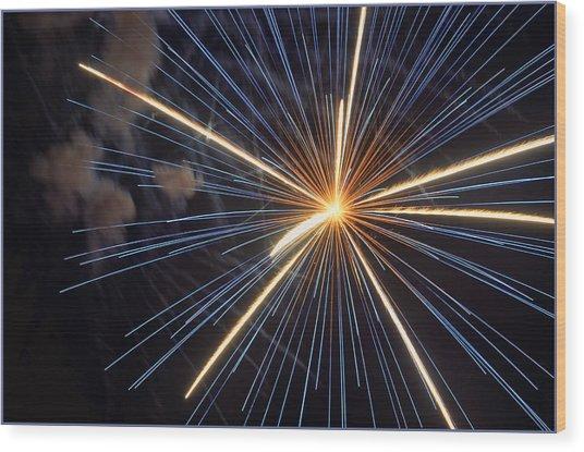 Firework 6 Wood Print