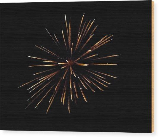 Firework Wood Print