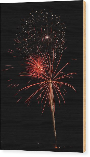 Fireworks 3 Wood Print