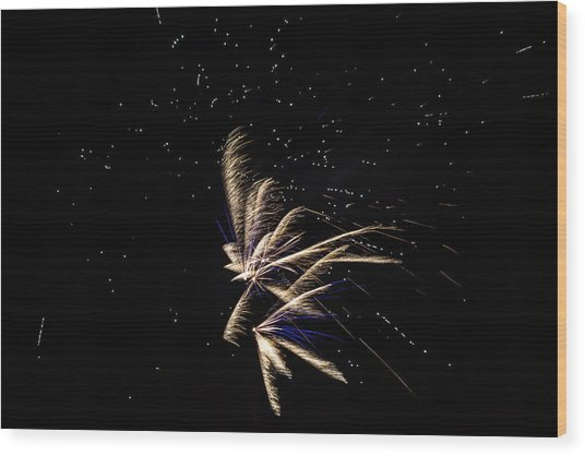 Fireworks - Dragonflies In The Stars Wood Print