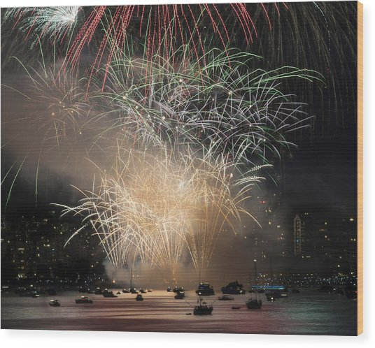 Fireworks In Englishbay 1 Wood Print