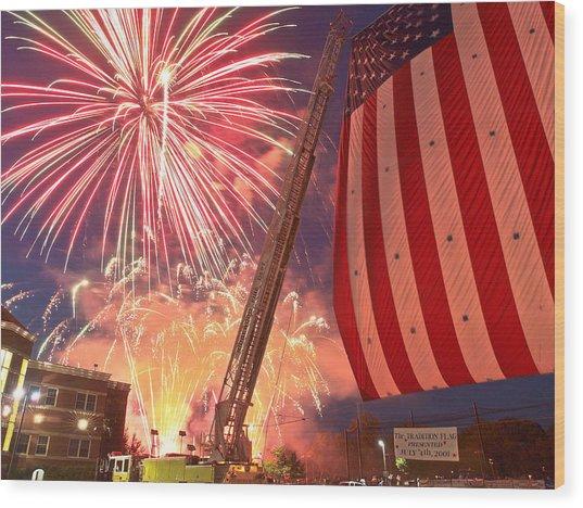 Fireworks Wood Print by Jim DeLillo