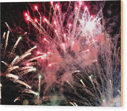 Fireworks  Wood Print by Paul Ganser