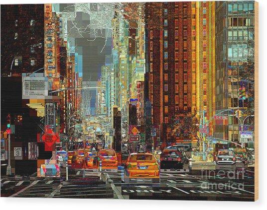 First Avenue - New York Ny Wood Print