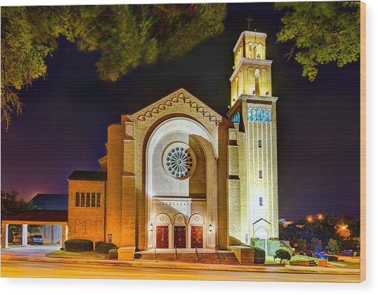First Baptist Church Of Pensacola Wood Print