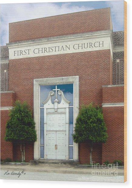 First Christian Church Wood Print