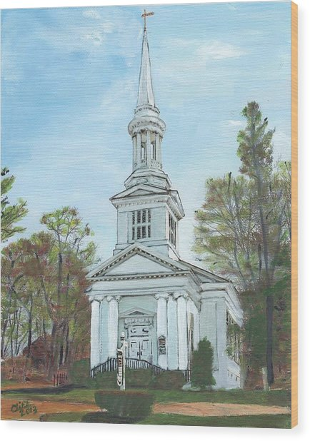 First Church Sandwich Ma Wood Print