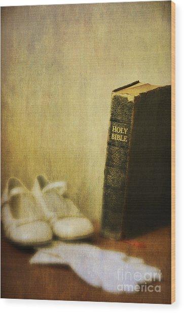 First Communion Wood Print