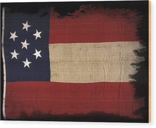 First Confederate Flag Wood Print