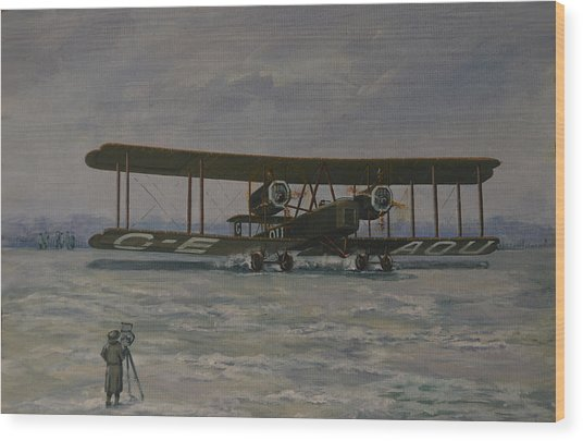 First England-australia Flight 1919 Wood Print