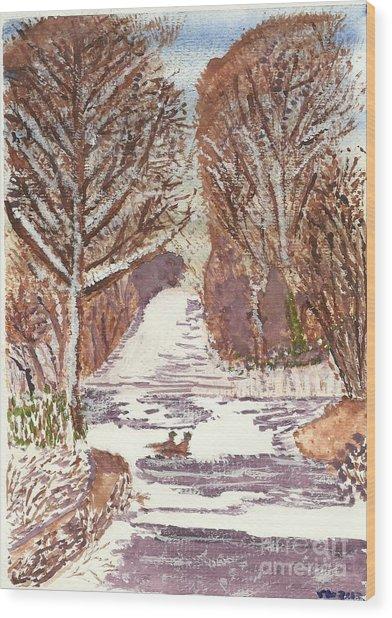 First Footprints Wood Print