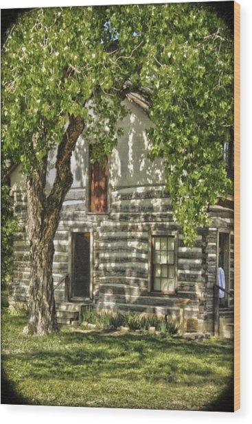 First House In Wichita Wood Print
