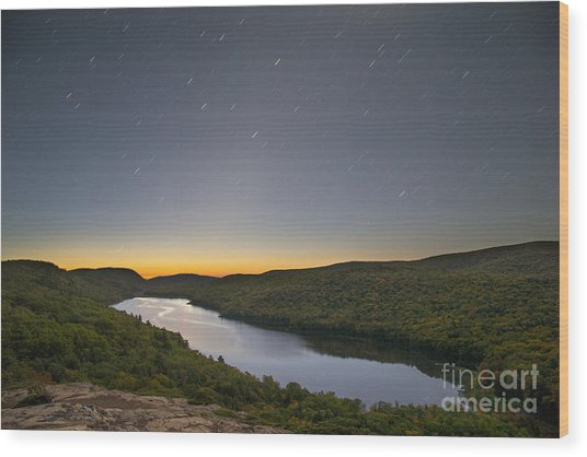 First Light At Lake Of The Clouds Wood Print