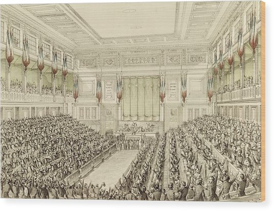 First Meeting Of The National Assembly, 4th May 1848  Wood Print