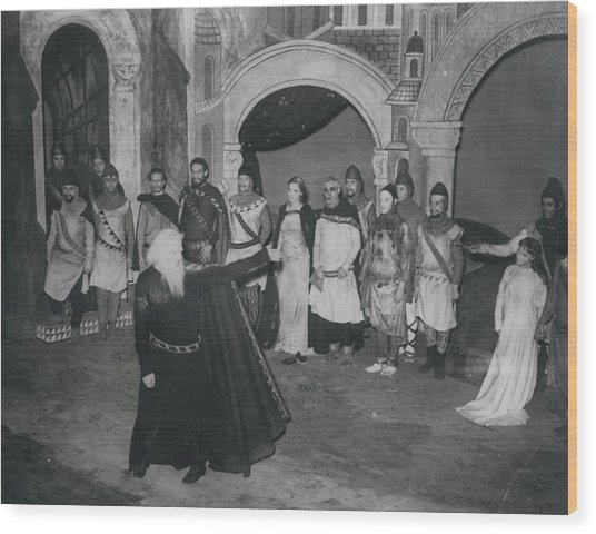 """First Night Of """"king Lear"""" Wood Print by Retro Images Archive"""
