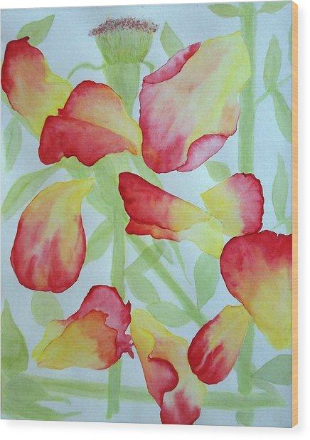 First Rose Wood Print