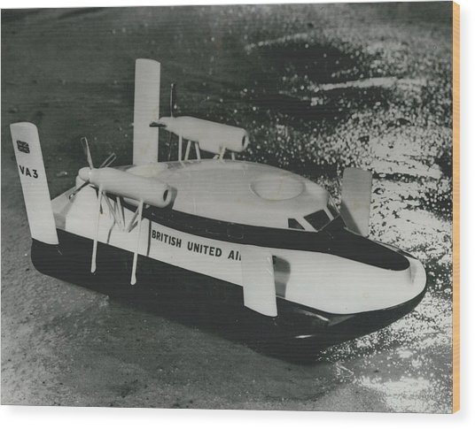 First Scheduled Hovercraft Service Planned For July Wood Print by Retro Images Archive