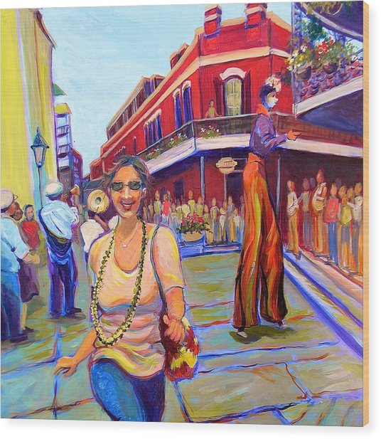 First Trip To New Orleans Wood Print