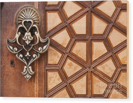 Firuz Aga Mosque Door 03 Wood Print
