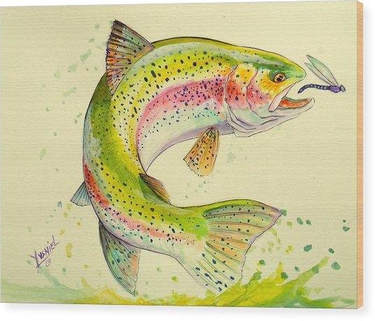 Fish After Dragon Wood Print