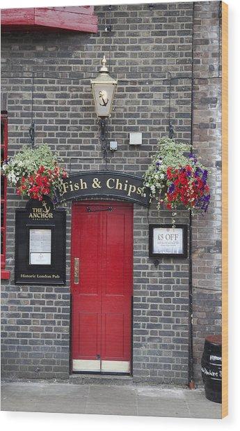 Fish And Chips Wood Print by Nigel Jones