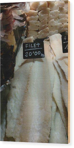 Fish Filets Wood Print