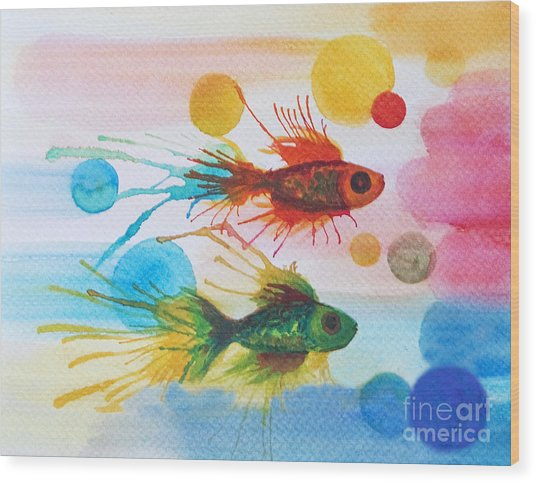 Fish Finale Wood Print