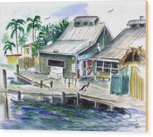 Fish House Wood Print