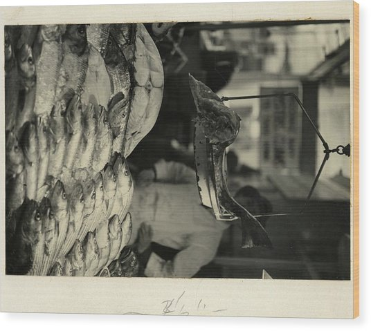Fish In The Washington Market Wood Print