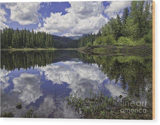 Fish Lake Wood Print