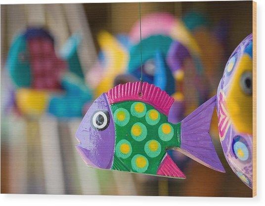 Fish Of Color Wood Print
