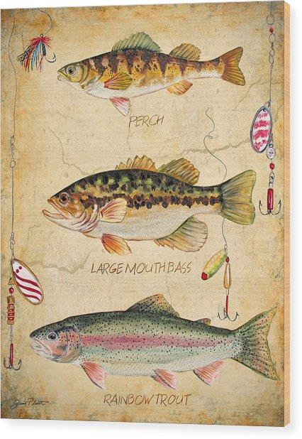 Fish Trio-b Wood Print