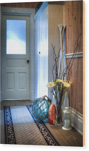 Fishermans Hallway Wood Print by Williams-Cairns Photography LLC