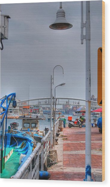 Fisherman's Wharf Taiwan Wood Print