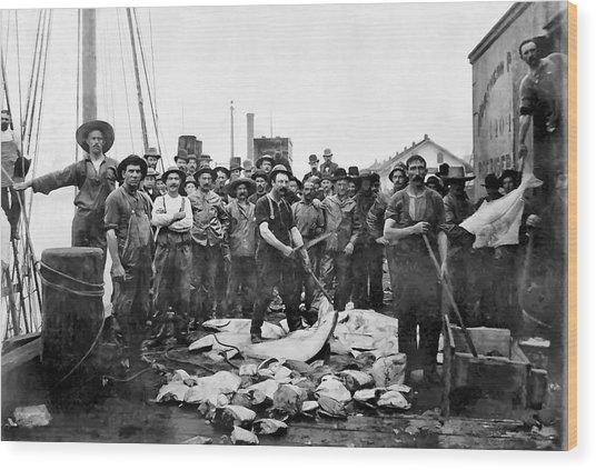 Fishermen 1888 Puget Sound - Washington Wood Print