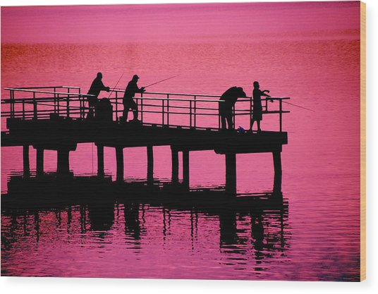 Fishermen Wood Print