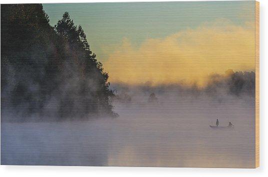 Fishing-3 Wood Print