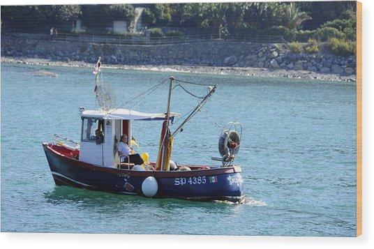 Fishing Boat At Portovenere Wood Print
