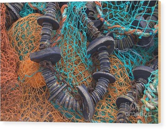Fishing Gear Wood Print by Joe Cashin