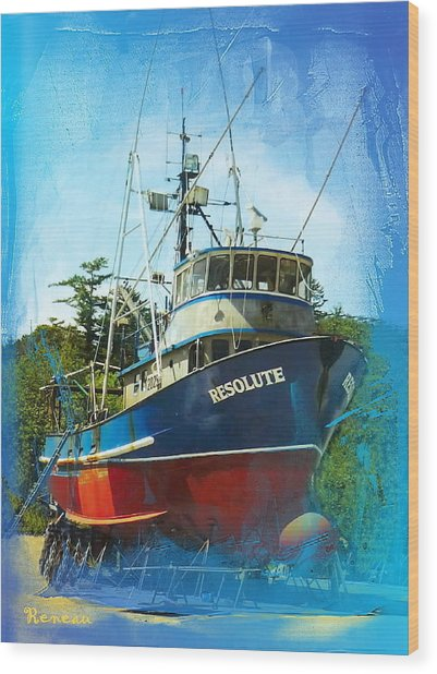 Fishing Vessel Resolute Wood Print