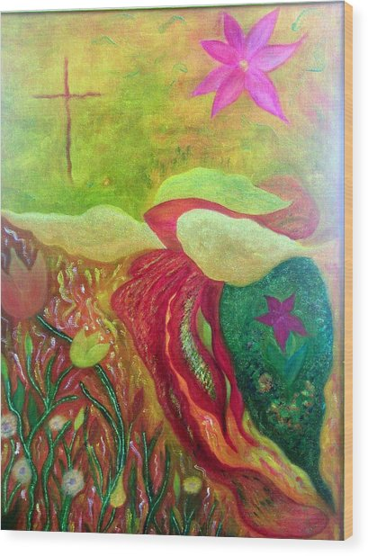 Fishstiqueart 2010 Wood Print by Elmer Baez