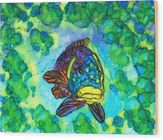 Fishy Wood Print